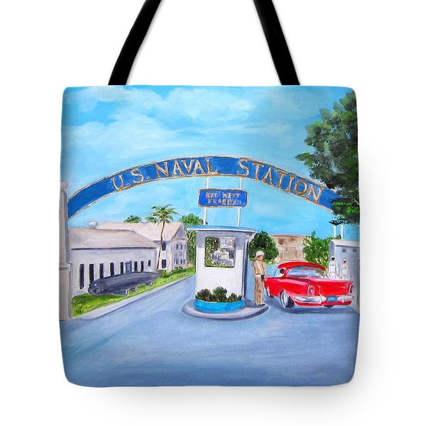 Key West U.s. Naval Station Tote Bag