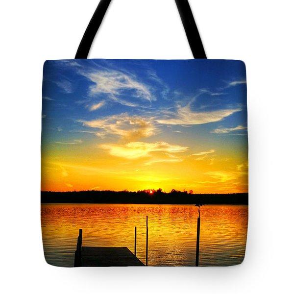 Keyes Lake Sunset Tote Bag
