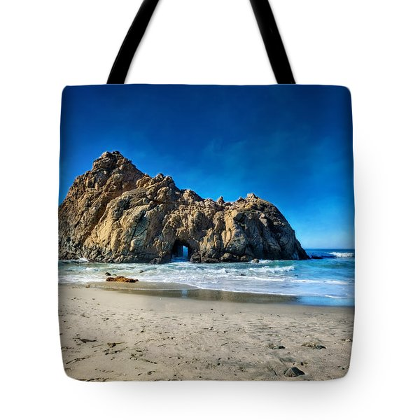 Tote Bag featuring the photograph Keyhole Rock At Pheiffer Beach #14 - Big Sur, Ca by Jennifer Rondinelli Reilly - Fine Art Photography