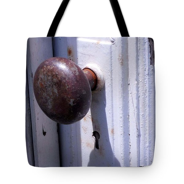 Tote Bag featuring the photograph Keyhole by Steve Godleski