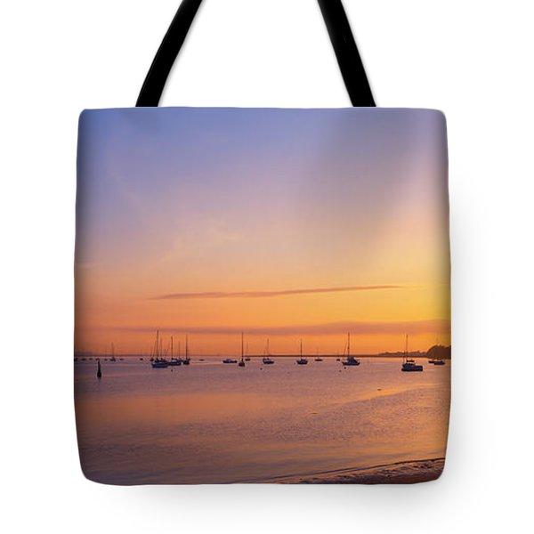 Keyport Harbor Sunrise  Tote Bag
