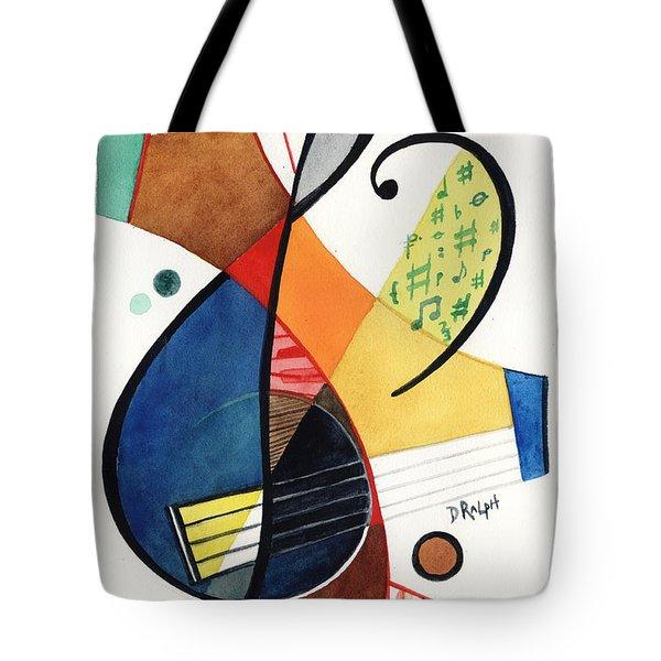 Keys And Clef Tote Bag