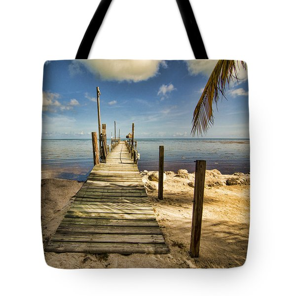 Tote Bag featuring the photograph Keys Dock by Don Durfee