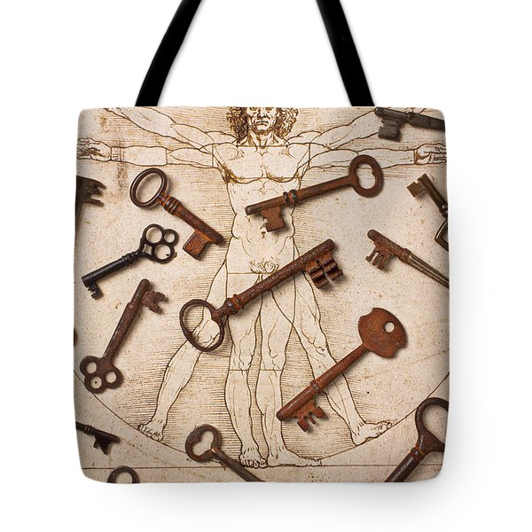 Keys On Artwoork Tote Bag by Garry Gay