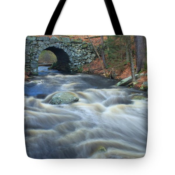 Keystone Bridge Quabbin Reservoir High Water Tote Bag