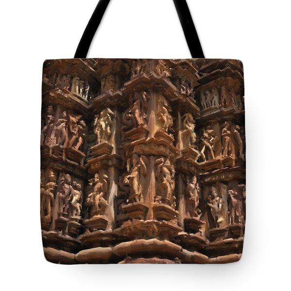Khajuraho Temples 3 Tote Bag