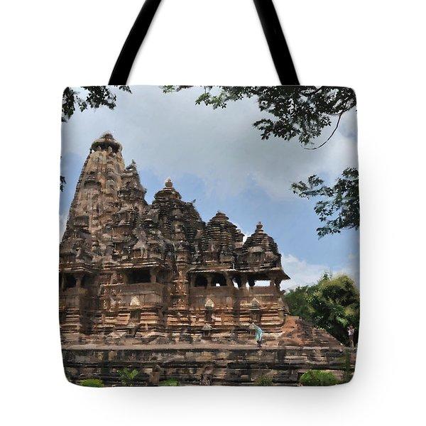 Khajuraho Temples 4 Tote Bag
