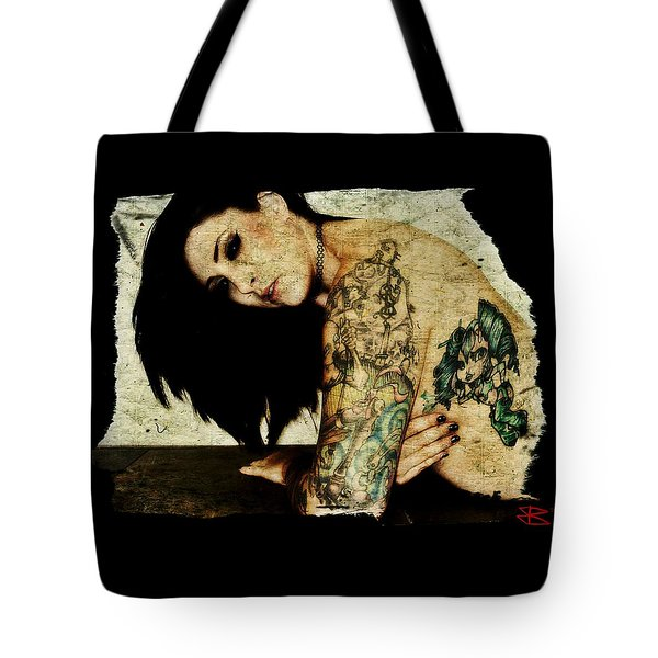 Tote Bag featuring the digital art Khrist 2 by Mark Baranowski