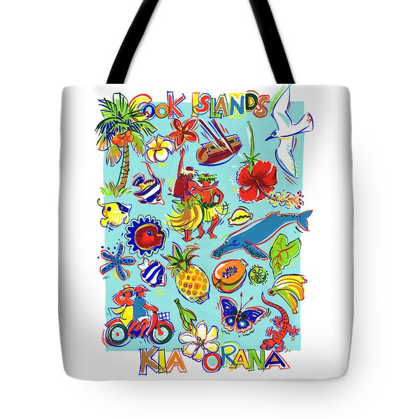 Tote Bag featuring the painting Kia Orana Cook Islands by Judith Kunzle