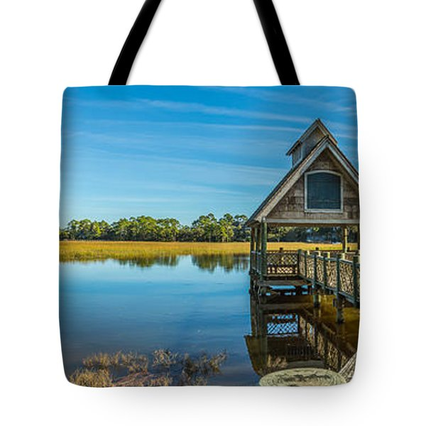 Kiawah Island Boathouse Panoramic Tote Bag