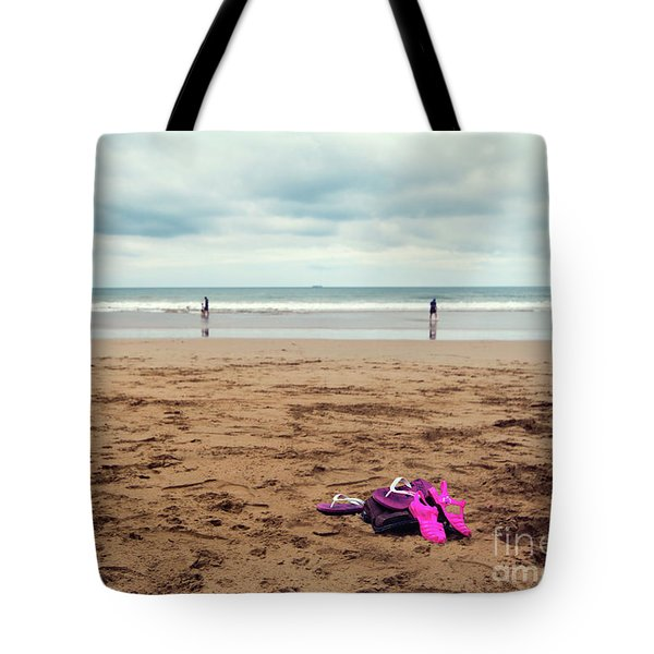 Tote Bag featuring the photograph Kick Off Your Shoes by Linda Lees