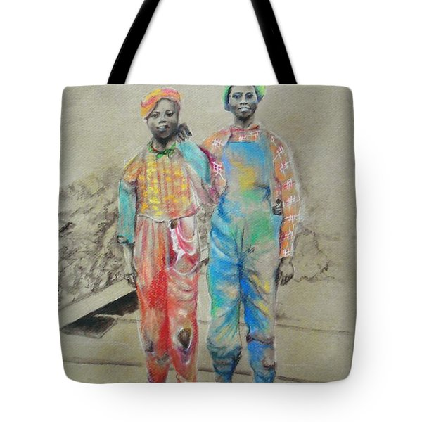 Kickin' It -- Black Children From 1930s Tote Bag