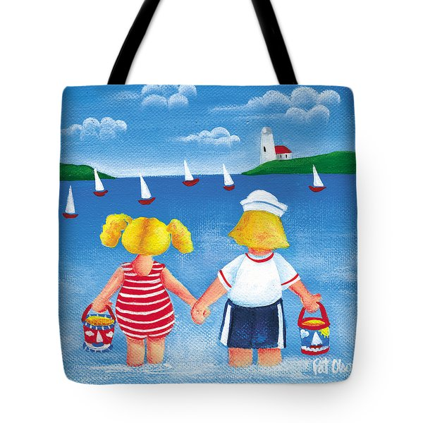 Kids In Door County Tote Bag