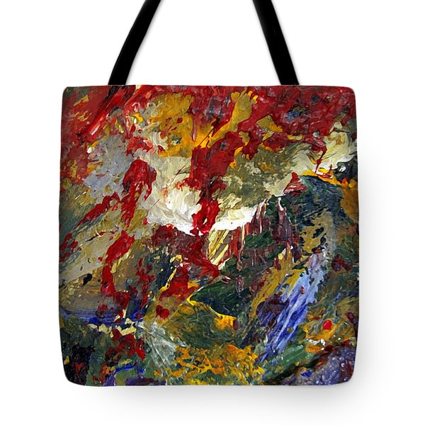 Tote Bag featuring the painting Kierlin Gorge by Charlie Spear