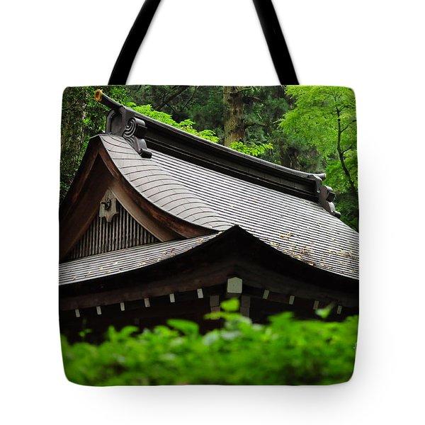 Kifune Shrine Tote Bag by Stevyn Llewellyn