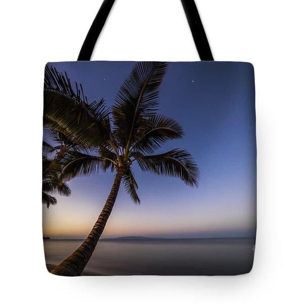 Kihei Maui Hawaii Palm Tree Sunrise Tote Bag