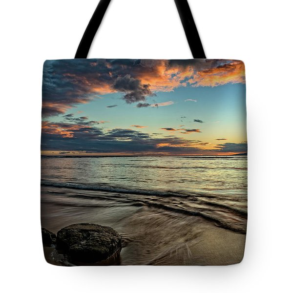 Tote Bag featuring the photograph Kihei, Maui Sunset by John Hight