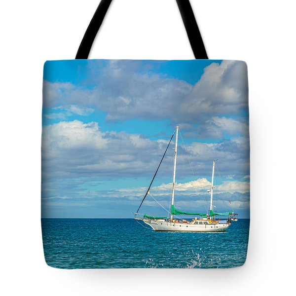 Kihei Sailboat 4 Tote Bag