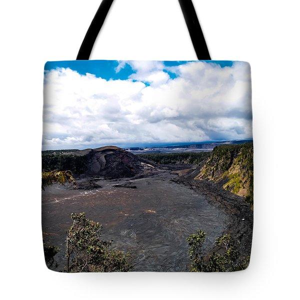 Tote Bag featuring the photograph Kilauea Caldera by Randy Sylvia