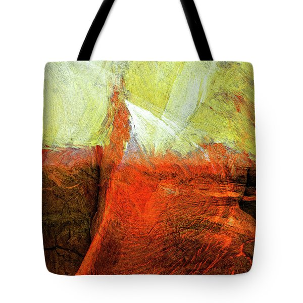 Tote Bag featuring the painting Kilauea by Dominic Piperata