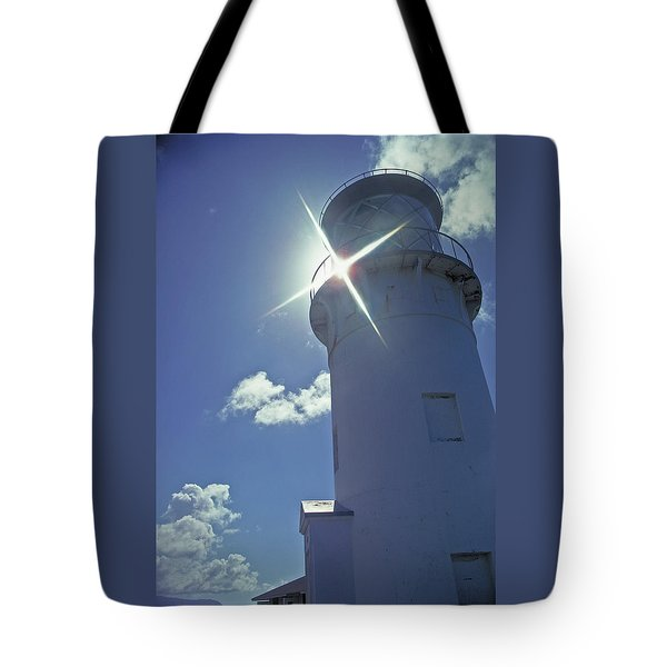 Tote Bag featuring the photograph Kilauea Lighthouse by Marie Hicks