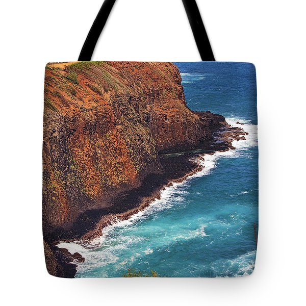 Tote Bag featuring the photograph Kilauea Lighthouse On The Island Of Kauai, Hawaii, United States Of America          by Sam Antonio Photography