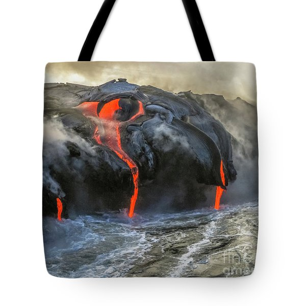 Tote Bag featuring the photograph Kilauea Volcano Hawaii by Benny Marty