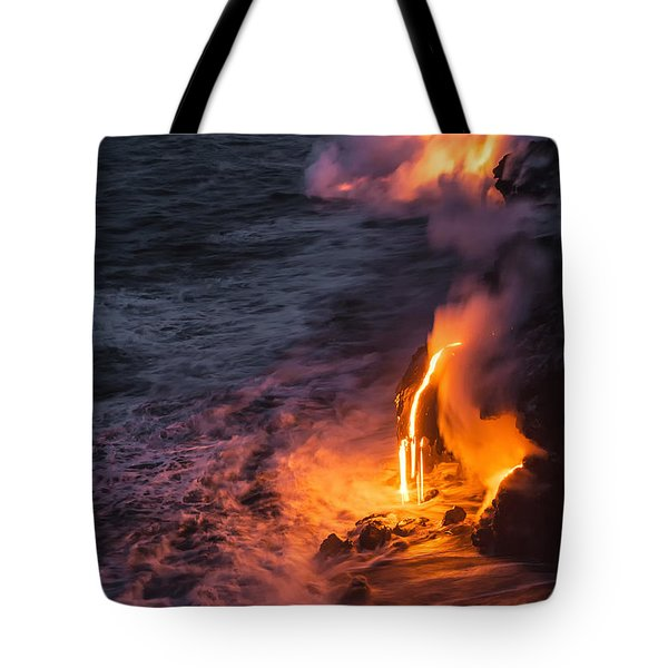 Kilauea Volcano Lava Flow Sea Entry 6 - The Big Island Hawaii Tote Bag