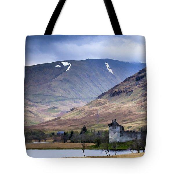 Kilchurn Castle On Loch Awe In Scotland Tote Bag