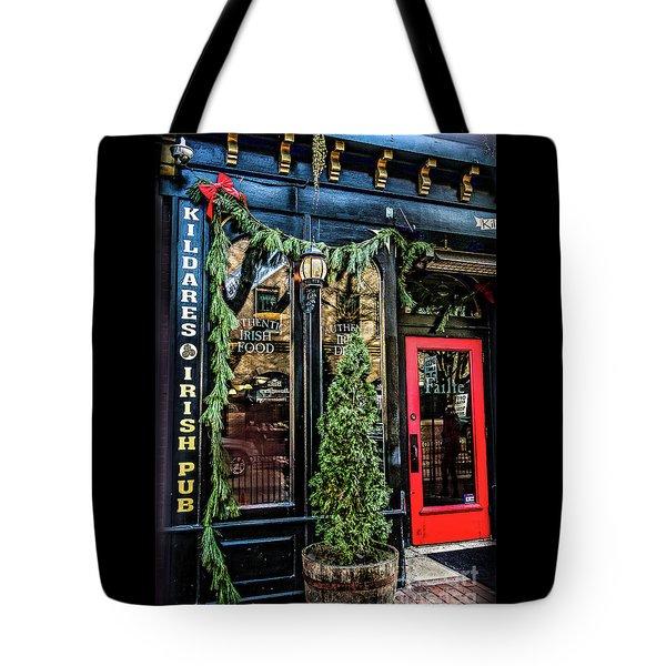 Kildares Irish Pub At Christmas Tote Bag
