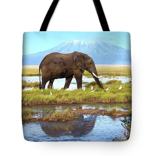 Kilimanjaro Mountain Tote Bag