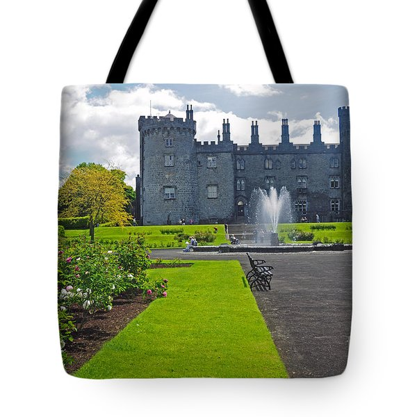 Kilkenny Castle From Rose Garden Tote Bag