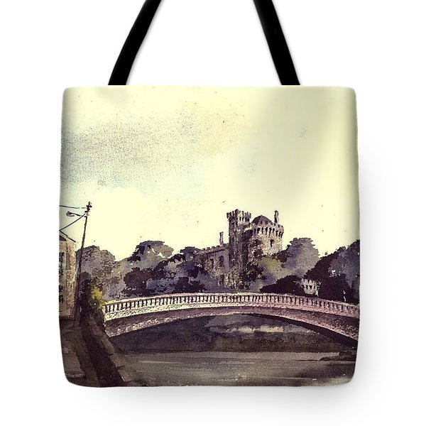 Kilkenny Castle On The Nore River. Tote Bag