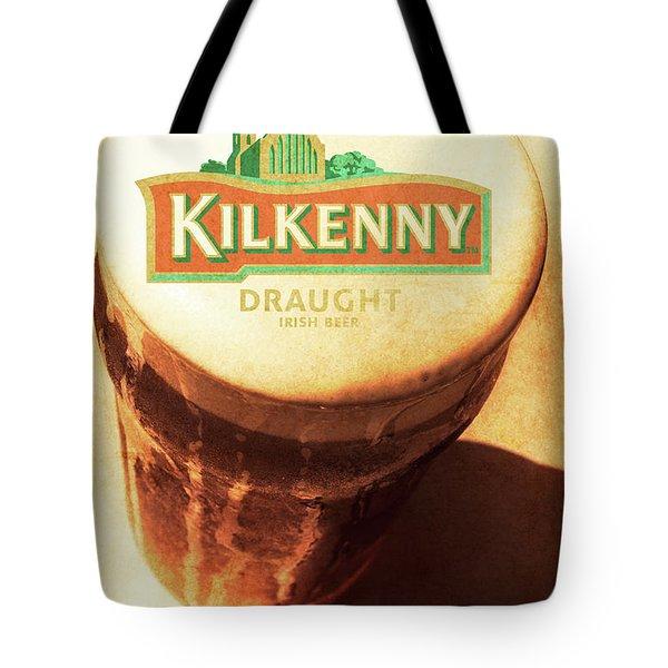 Kilkenny Draught Irish Beer Rusty Tin Sign Tote Bag