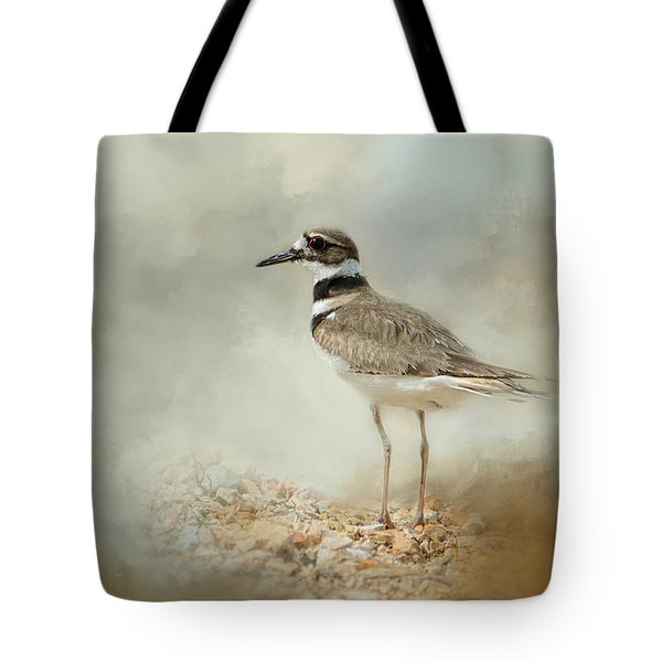 Killdeer On The Rocks Tote Bag