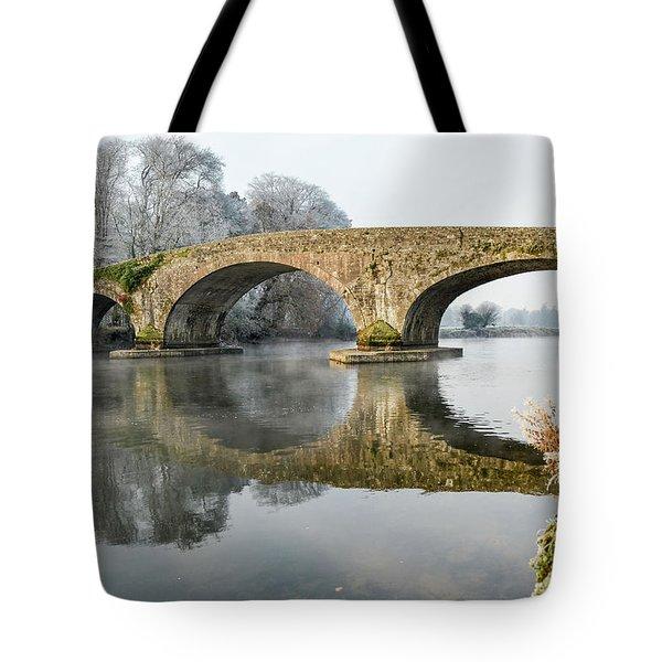 Kilsheelan Bridge In Winter  Tote Bag
