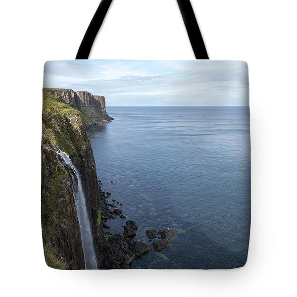 Kilt Rock Waterfall Isle Of Skye, Uk Tote Bag