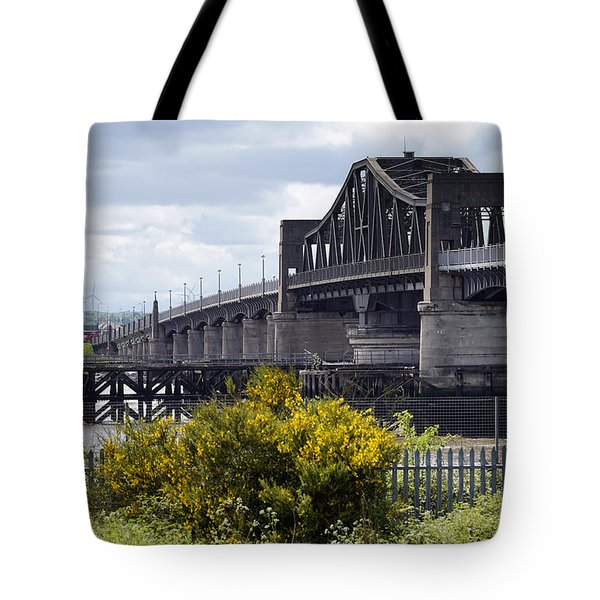 Tote Bag featuring the photograph Kincardine Bridge by Jeremy Lavender Photography