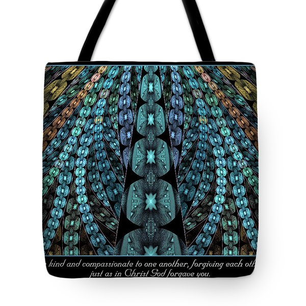 Tote Bag featuring the digital art Kind And Compassionate by Missy Gainer