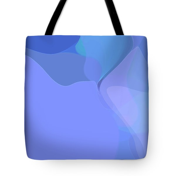 Tote Bag featuring the digital art Kind Of Blue by Gina Harrison