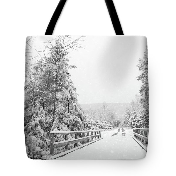 Tote Bag featuring the photograph Kindness Is Like Snow by Lori Deiter