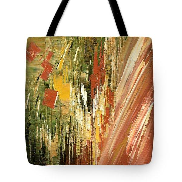 Tote Bag featuring the painting Kinetic Creativity by Tatiana Iliina