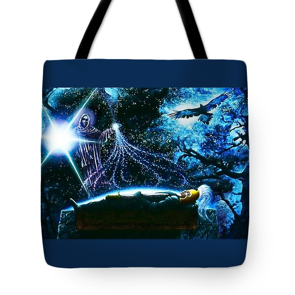 King  Arthur's Death Tote Bag by Hartmut Jager