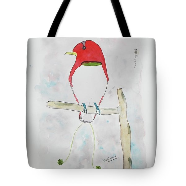 King Bird Of Paradise Tote Bag by Keshava Shukla