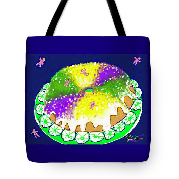 King Cake Tote Bag by Jean Pacheco Ravinski