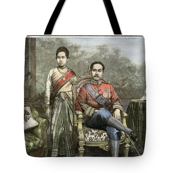 Tote Bag featuring the drawing King Chulalongkorn by Granger