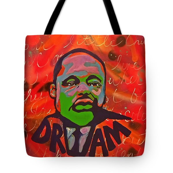 King Dreaming Tote Bag by Miriam Moran