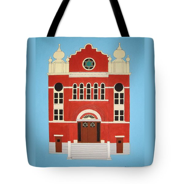 Tote Bag featuring the painting King Edward Street Shul by Stephanie Moore