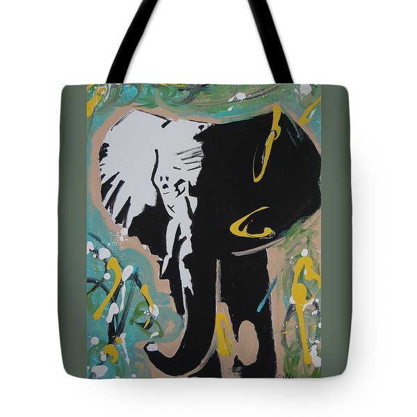 King Elephant Tote Bag