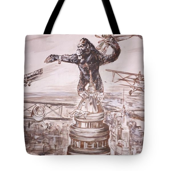 King Kong - Atop The Empire State Building Tote Bag